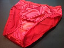 Women Panties,Briefs Bikinis Selina Size XXXL Red Satin Silky W/Net&Decoration