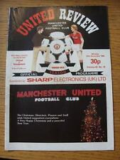 27/12/1982 Manchester United v Sunderland  (Creased, Nicks, Token Removed)