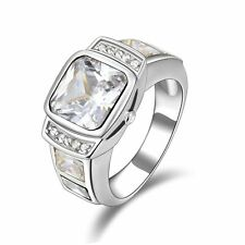 Nobby Size 9 Mens Gold Filled White Sapphire Engagement Fashion Rings Halo