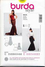 BURDA SEWING PATTERN 7089 6-22 RETRO STEAMPUNK VICTORIAN MERMAID FISHTAIL SKIRT