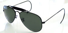 RAY BAN 3030 58 OUTDOORSMAN BLACK REMIX G15 GREEN POLARIZED VERDE NERO SOLE