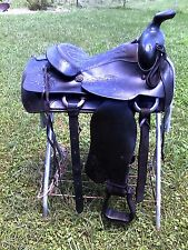 "16"" VINTAGE TRAIL BLAZER #221 WESTERN RANCH HORSE SADDLE"