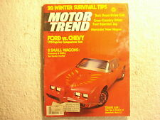 Motor Trend 1978 December Ford vs Chevrolet Trans Am Mercedes Jaguar 1942 Chevy