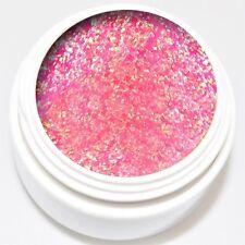 5 ml Diamant Glitter Gel rosa irisierend extra viel Glitter kein absinken