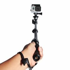 New Telescopic Handheld Extendable Monopod w/ Phone Clip for Cell Phone & GoPro