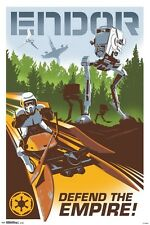 STAR WARS - ENDOR TRAVEL POSTER - 24x36 MOVIE 14756