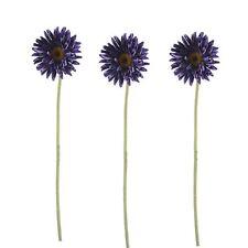 Pack De 3 Artificial Mini Gerbera Púrpura-longitud 56 Cm-Verano-Falso Flor