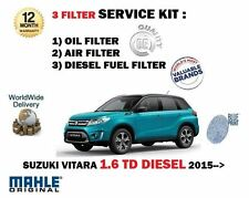 FOR SUZUKI VITARA 1.6DT DDIS 2015-- NEW OIL AIR FUEL 3 FILTER SERVICE KIT