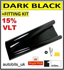AUTO CAR OFFICE TINTING WINDOW TINT FILM SUPER DARK LIMO BLACK 15% 6M x 50CM