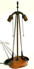 Vintage Golf Club Table Light Lamp Old Driver Kroydon Antique Bag Putter Ball