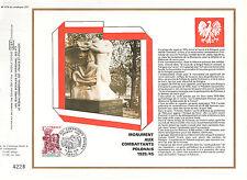 DOCUMENT CEF PREMIER JOUR 1978 MONUMENT AUX COMBATTANTS POLONAIS