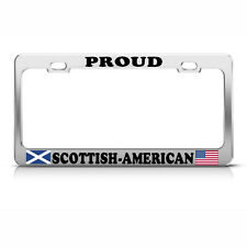 SCOTTISH AMERICAN FLAGS HEAVY DUTY METAL LICENSE PLATE FRAME TAG BORDER