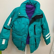DOWNHILL RACER Vintage1980'S puffer SKI/SNOW jacket down Men's size M-green