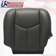 2003 2004 2005 2006 2007 GMC Sierra Driver Bottom Leather Seat Cover Dark Gray