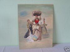 VINTAGE 1979 ORIGINAL PAINTING CANVAS ON BOARD L LAM GRAM MYSTERY ARTIST M74
