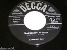 "7"" - Sunshine Sue / Please don´t spoil me & Blackberry Winter - US DECCA # 2766"