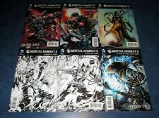 MORTAL KOMBAT X #1 sketch variant (both) 2 3 4 5 set DC COMIC SCORPION SUB-ZERO