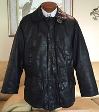 Armani Exchange A|X Mens Black Leather Lined Quilted Jacket Sz Small Excellent!