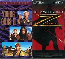Young Guns 2 (VHS, 1991) & The Mask of Zorro (VHS, 1998, Closed Captioned)