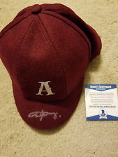 AC/DC ANGUS YOUNG signed autograph OFFICIAL AC/DC SCHOOL BOY HAT BAS