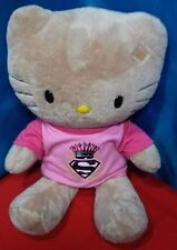 "Build A Bear Hello Kitty Tan 18"" Soft Plush Stuffed Toy BABW Original Outfit"