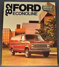 1982 Ford Econoline Van Truck Brochure XL E-100 150 250 350 Excellent Original