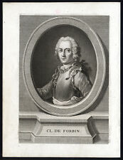 Antique Portrait Print-FORBIN-GOVERNOR SIAM-NAVAL COMMANDER-FRANCE-Turpin-1780