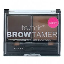 TECHNIC EYEBROW KIT BROW TAMER Powder Wax Angled eyebrow Brush Spoolie MEDIUM