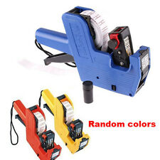 Retail Store Digital Price Gun/ Pricing Tag Labeller Stickers Kit  + Ink Roller