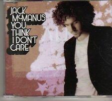 (BN961) Jack McManus, You Don't Think I Don't Ca- DJ CD
