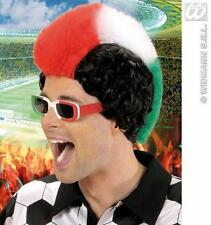Italian Mohawk Wig Red White Green Mohican Football Fan Italy Fancy Dress