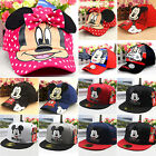 Kids Boys Girls Minnie Mickey Cartoon Baseball Caps Snapback Hip-hop Summer Hat