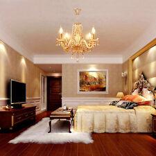 4 Lampe Kronleuchter Decken Hänge Leuchte Beleuchtung Kristall Wohnzimmer Lüster