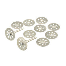 10PCS Mini Sharp 22mm Vented Diamond Cutting Discs Disks+Mandrel Dremel DIY