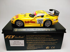 Slot Scalextric Fly Car Model Dodge Viper GTRS 24h nurburgring 1999 A87 1/32