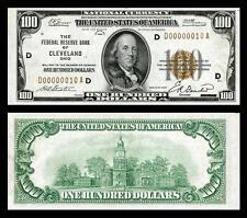1929 Unc. $100.00 National Bank Copy Note Please Read Description!