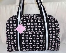 VERA BRADLEY SPORT DUFFEL BAG - PINK ELEPHANTS - NEW WITH TAGS - CARRY ON BAG