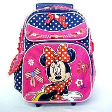 "Minnie Mouse by Disney-  16"" Rolling BackPack For Kid BRAND NEW"
