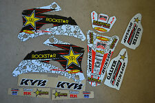 WHITE  ROCKSTAR GRAPHICS & WHITE  BACKGROUNDS YAMAHA   YZF250 YZF450 06 07 08 09