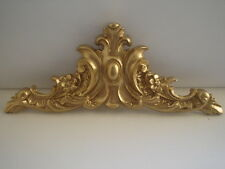 ORNATE CENTER PIECE DECORATIVE MOULDING / PEDIMENT GOLD RESIN