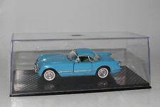 ROAD CHAMPS 1955 CHEVROLET CORVETTE, BLUE, 1:43 SCALE