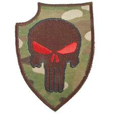 punisher shield devgru morale multicam embroidered us navy sew iron on patch