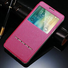 Slim Window View Leather Flip Stand Smart Case Cover Skin For Samsung Galaxy S