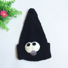 Cute Baby Toddler Big Eye Print Spinous Vertical Knitted Winter Warm Hat Cap NEW