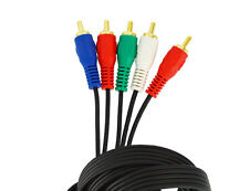 Sewell Component Video Cable with audio (5 RCA), Black, 10 ft.