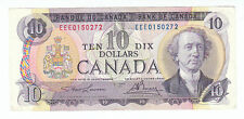 1971 Ten Canadian Bill 10 Dollar Canada EEE0150272 Circulated