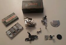 Vintage Singer Green Box Hand Held Buttonholer Sewing Machine Attachments USA