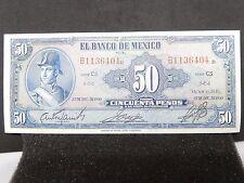 AU 1950 Banco de México 50 Pesos Ignacio Allende Serie CS Pick: 41d