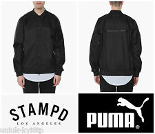 PUMA x STAMPD TECH BOMBER JACKET COAT Black Biker Varsity Men's Designer M £165