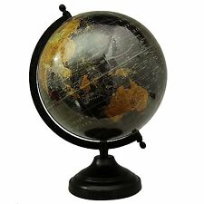 Big Rotating Desktop Globe World Earth Black Ocean Table Decor Globes 12.5""